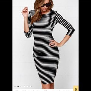 The Fifth Label No Time to Waste striped midi
